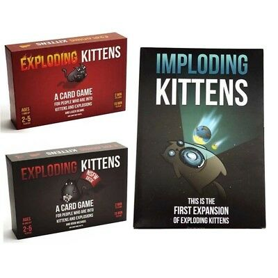 Exploding Kittens Original&NSFW Edition (Explicit Content) Fun Party Card Game