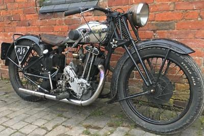 1930 AJS S6, 350cc twin port OHV Vintage project running with V5