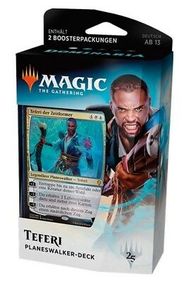 Dominaria Planeswalker Deck Teferi (Deutsch) Magic Starter Pack mit 2 Boostern