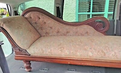 Victorian 1880 c Chaise Lounge stunning  in perfect condition