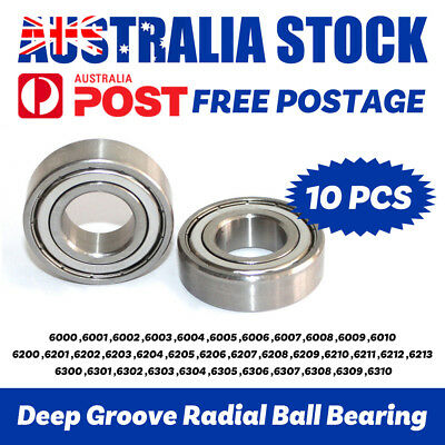 Bearings 6000 to 6310 2ZZ 2Z Wheel Metal Seals Deep Groove Radial Ball Bearing