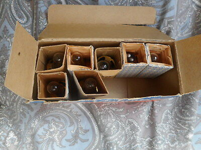 7 Exciter Lamps BTD for Kodak Pageant projectors. hard to find.will fit others.