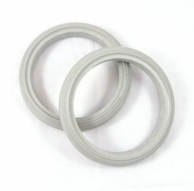 1 pair of 190mm x 29mm Solid Front Castor Tyres for NHS Style Wheelchair