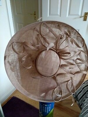 natural colour Paul Costelloe hatinator. Worn once for a wedding.