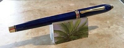 CROSS TOWNSEND marbled FOUNTAIN PEN gold 23 KT APPOINTMENTS vintage USA MADE