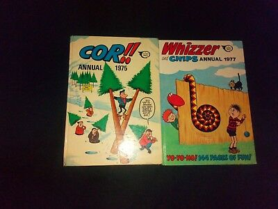 Whizzer And Chips  1977 /Cor 1975 Vintage Annuals x 2