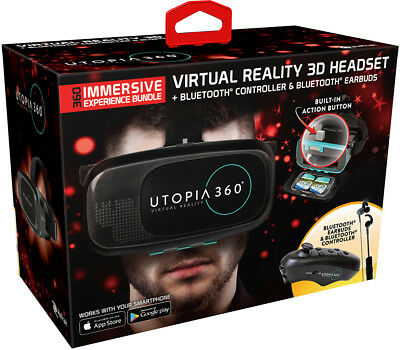 VR Headset | 3D Virtual Reality Headset for VR Games and 3D Movies, Utopia 360°