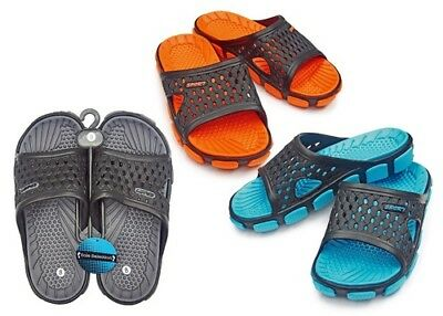 MEN'S SLIDES WITH MASSAGE FOOTBED > (Lot of 36 Pairs)