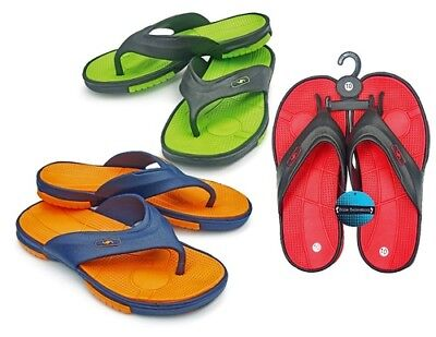 MEN'S BRIGHT COLOR FLIP FLOPS WITH MASSAGE FOOTBED > (Lot of 36 Pairs)