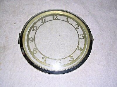 Clock  Parts , Chrom E Bezel  With  Chapter  Ring