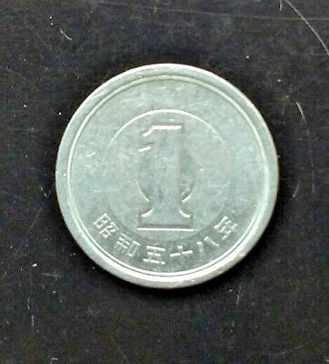 Japan/ Japanese Currency Coin:1 Yuan in Ping Cheng 58 Years. 平 成五十八年. 日本国1元硬币