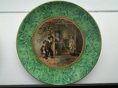THE TRUANT  MALACHITE 9 1/2inch PLATE   MINT CONDITION   Ex CROWTHER COLLECTION