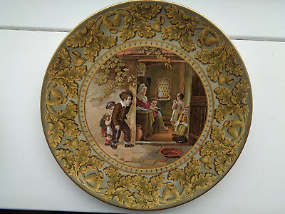 THE TRUANT ACORN & OAK 9 1/2inch PLATE   MINT CONDITION  Ex CROWTHER COLLECTION