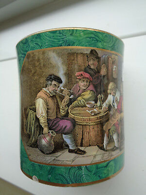 THE JOLLY TOPPERS MALACHITE MUG  SMALL CHIP TO BOTTOM  Ex CROWTHER COLLECTION