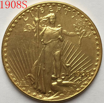 1908-S $20 St. Gaudens Coin Free shipping