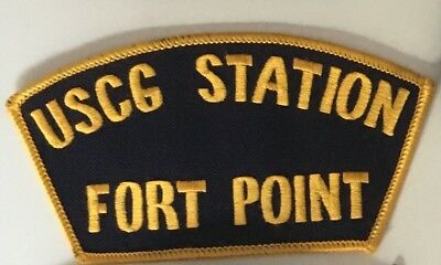USCG United States Coast Guard Station Fort Point patch 2-3/4 X 5-1/8 X 3-5/8