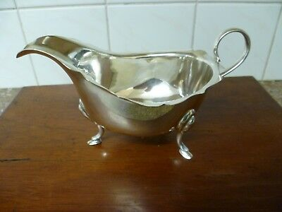 An Antique, Large Silver Plated Sauce Boat. An Antique Silver Plated Gravy Boat.