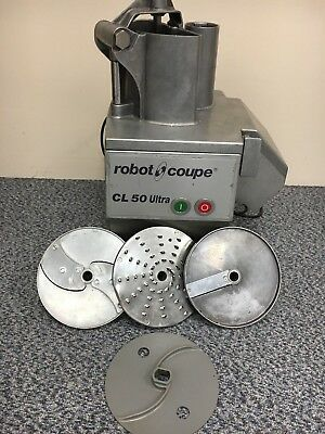 Commercial Robot Coupe CL50 Ultra food processor chopper slicer with 3 blades