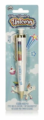 Unicorn Decision Maker pen NPW-USA, cheeky, gift, office, stationary