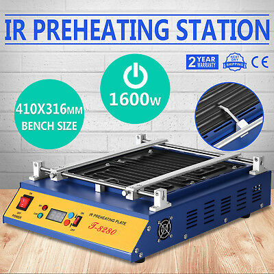 IR Preheating Oven T8280 Rework Station Temp-Set Button Cut Through 1600W New