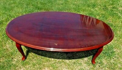 Terrific Cherry Queen Anne Coffee Table Oval Cocktail Table Solid Pabps2019 Chair Design Images Pabps2019Com