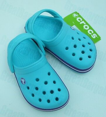 Crocs Crocband Kids Girls Relaxed Fit Clogs Shoes Sandals C 8 9 10 11 BNWT
