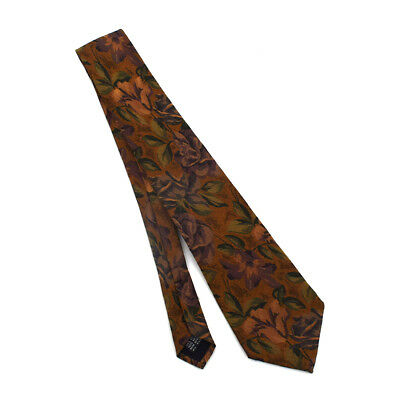 NORDSTROM Men's Art Nouveau Floral Tapestry Pattern Hand-sewn Silk Tie Italy