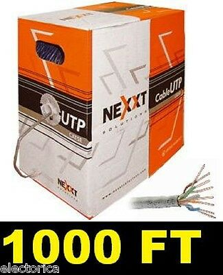 1000 FT CAT5 ETHERNET LAN NETWORK CABLE 1Gbps CAT-5 WIRE 1000' CAT5E INTERNET