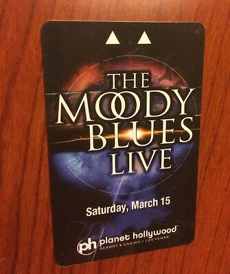 ☀NEW Unswiped Planet Hollywood THE MOODY BLUES Vegas Room Key Card Band Rock☀HOF