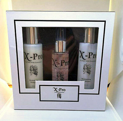 X-Pro Shampoo Conditioner & Protein Spray Gift Pack For Human Hair Extensions
