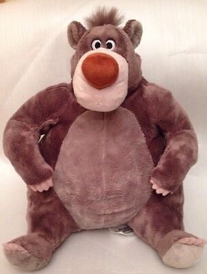 "Disney Store The Jungle Book Baloo Soft Plush Toy Cuddly Teddy Bear 12"" High"
