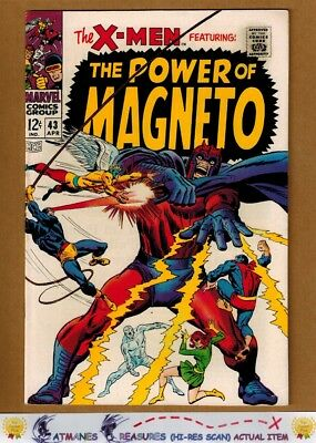 Uncanny X-Men #43 (8.5) VF+ Magneto Appearance 1968 Silver Age Key Issue