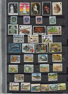 Stamps. G.B.Channel Islands. Jersey.37 Various part sets.Fine used.