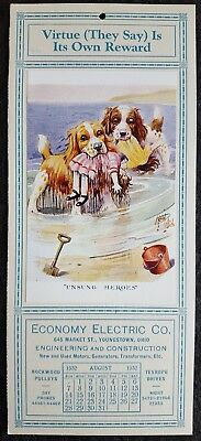1932 Economy Electric Co. Messenger Monthly - Wet Dogs & Dolls - Youngstown, Oh