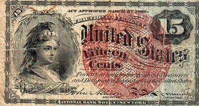 1863-74 15 Cent U.S Fractional Currency Note