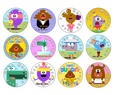 12/24/30/48/60/ personalised- HEY DUGGEE CUPCAKE TOPPERS - RICE PAPER BIRTHDAY