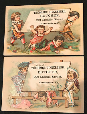 2 - Theodore Dinkelberger Trade Cards 221 Middle Street Lancaster, Pa