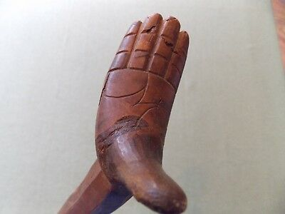 Unique Approach to Use of the Hand as Walking Cane, Highly Detailed, Delightful!