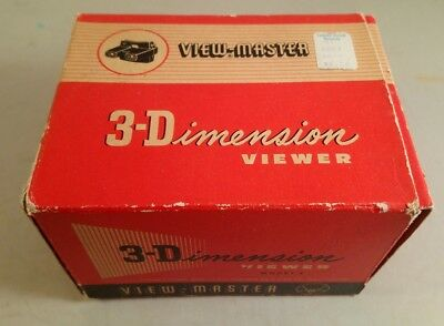viewmaster 3 dimensions viewer boxed model E