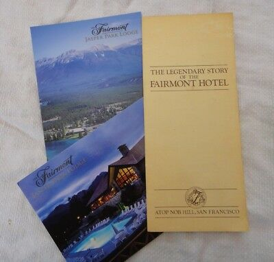 San Francisco Fairmont Hotel story brochure vintage + 2 more postcards
