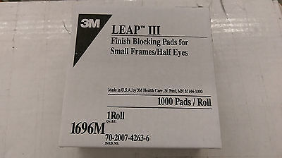 3M 1696 III Finish Blocking Leap Pads Lens Pads Roll of 1000 ( Half Eye )