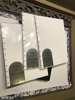 """(1) TUL Custom Note-Taking System Discbound Refill Pages, 8.5"""" x 11"""" Ruled"""