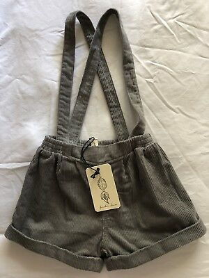 Featherdrum Suspender Shorts Size 6 Boy Girl