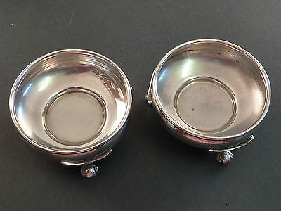 Small Pair Of Silver Open Salts