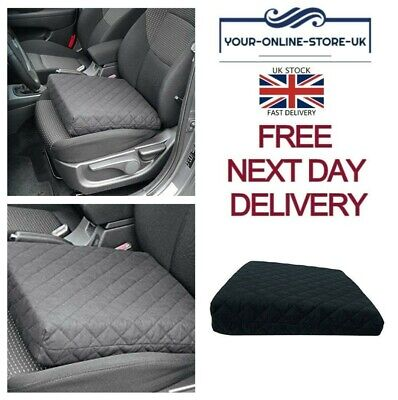 Car Seat Pads Basic Black Relaxing Pillow Cushion Booster Drivers Comforter