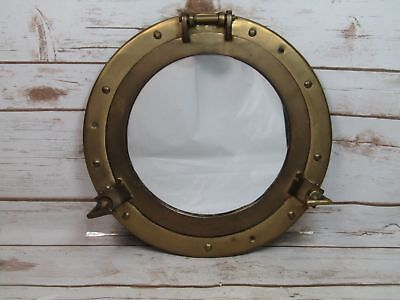 Brass Ship's Porthole Mirror Round Hanging Wall Décor