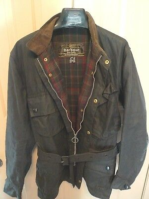 Barbour- A7 International Suit  Waxed Cotton Jacket-Vintage & Rare-Made @uk-40
