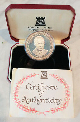 1974 Isle of Man - Winston Churchill Centenary One Crown Coin - In Box