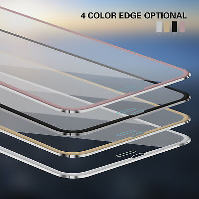 3D Full Coverage Metal Tempered Glass Screen Protector For iPhone 6s 7 8 8 Plus