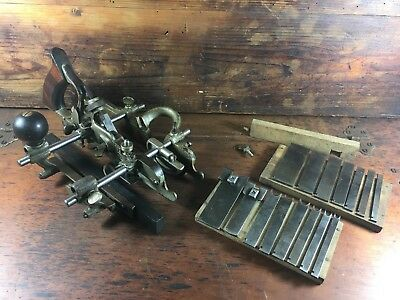 AMAZING c.1901 STANLEY USA No.45 COMBINATION PLANE COMPLETE WITH CUTTERS